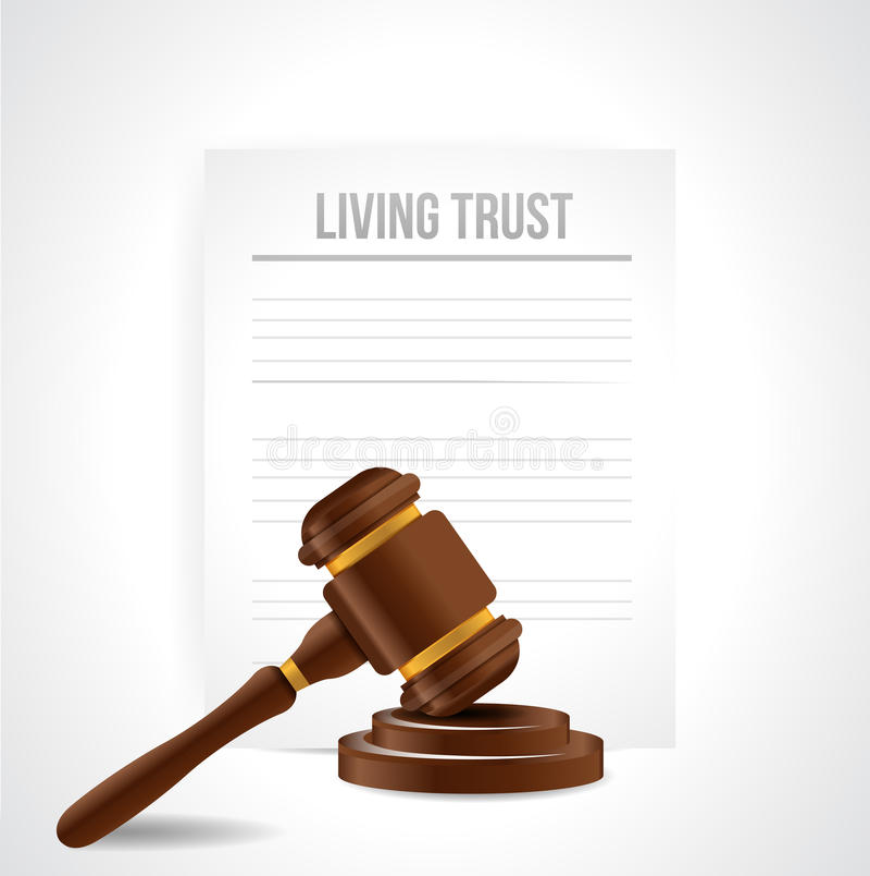 Ejemplo del documento jurídico del fideicomiso libre illustration