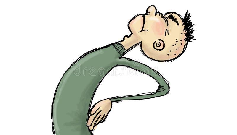 Ejemplo del dolor de espalda ilustración del vector