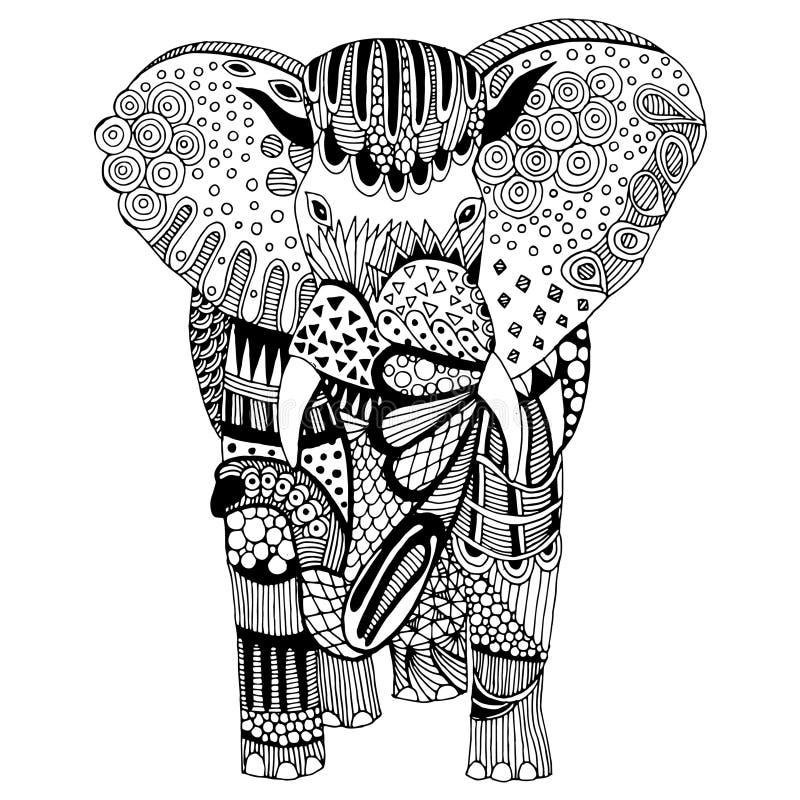 Ejemplo del elefante ilustración del vector