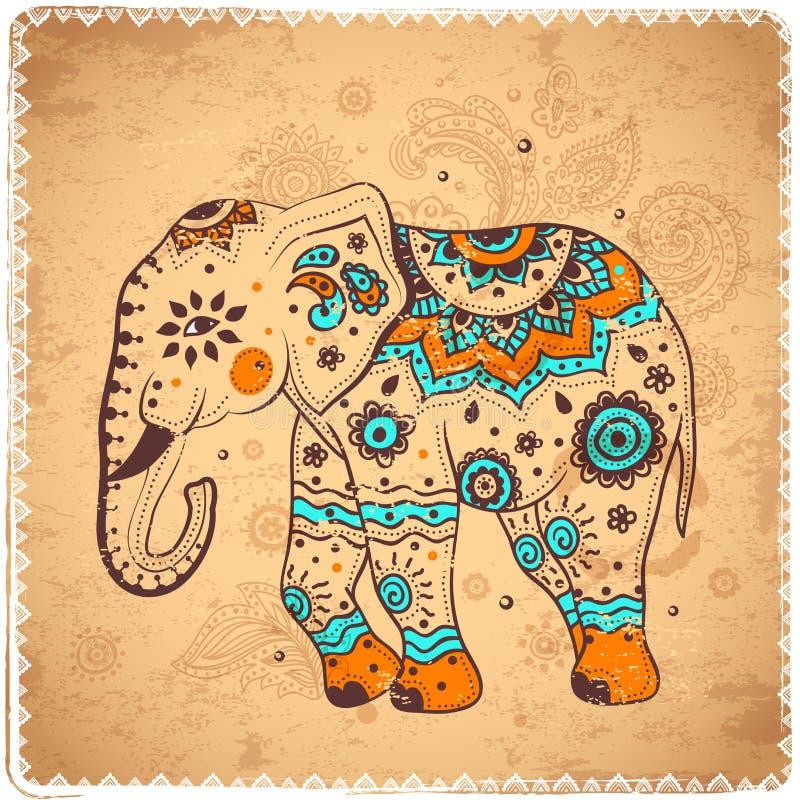 Ejemplo del elefante del vintage libre illustration