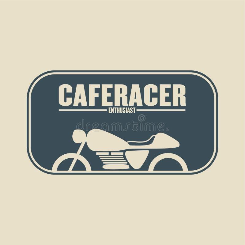 Ejemplo del entusiasta de Caferacer stock de ilustración