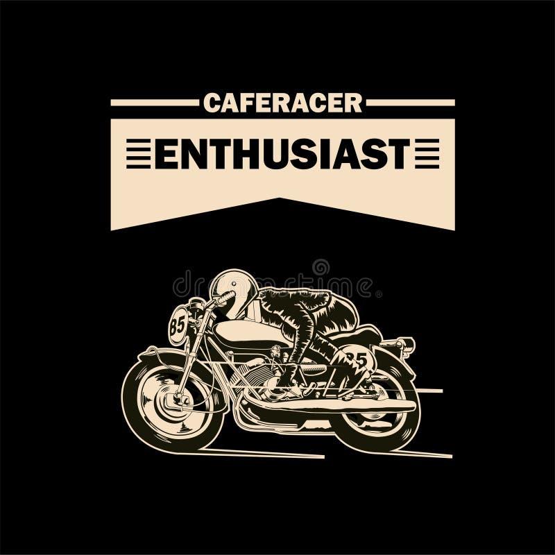 Ejemplo del entusiasta de Caferacer ilustración del vector
