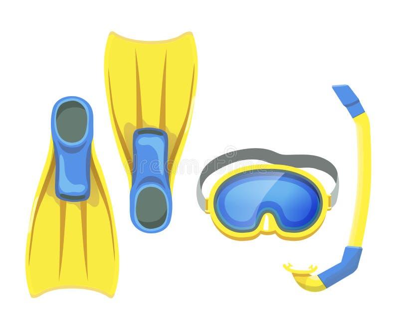 Ejemplo del equipo que bucea aislado libre illustration