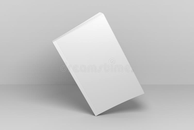 Ejemplo del espacio en blanco 3D que coloca la maqueta del libro de cubierta suave libre illustration