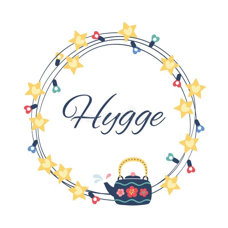 Ejemplo del estilo de Hygge Fondo redondo libre illustration