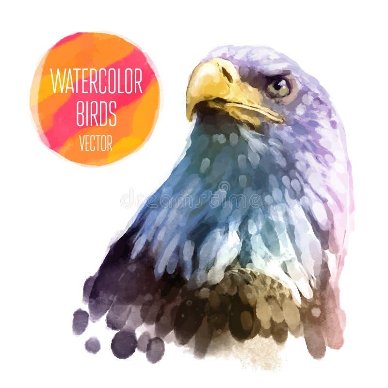 Ejemplo del estilo de la acuarela del vector del pájaro libre illustration