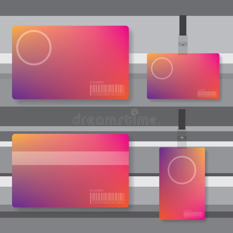 Ejemplo del extracto de la tarjeta de la identificación libre illustration