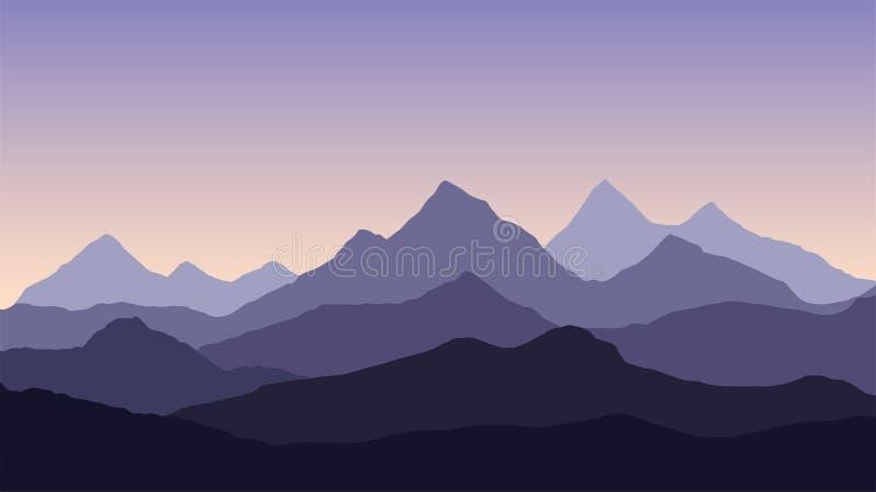 Ejemplo del extracto del vector de un landsca de varias capas de la montaña ilustración del vector
