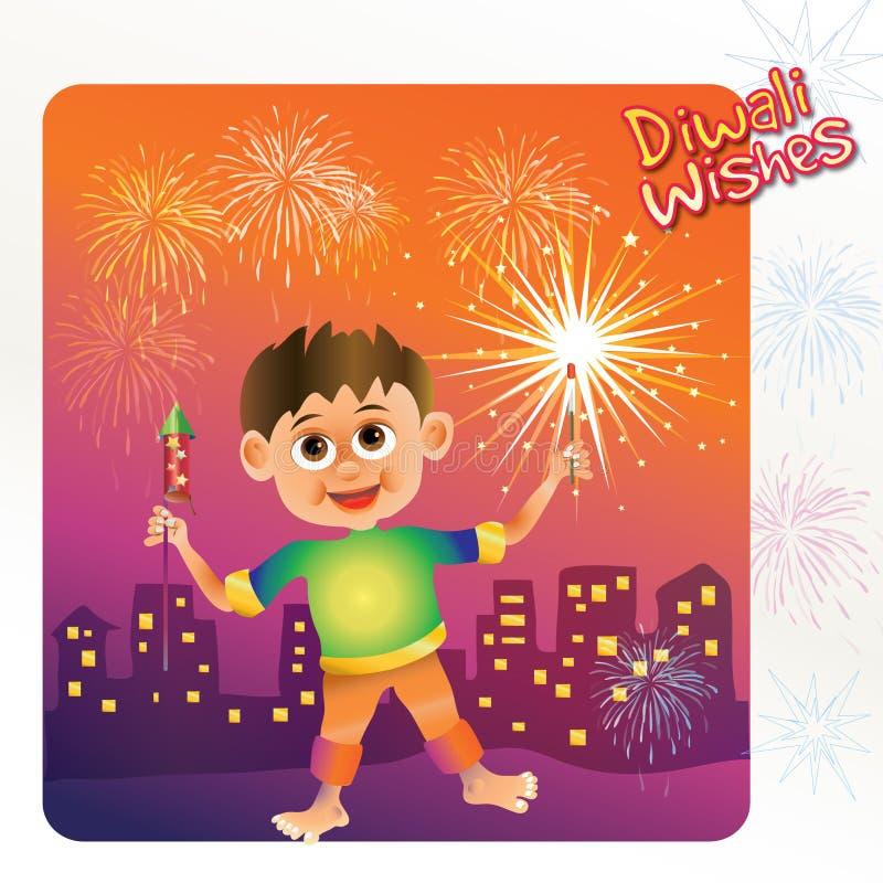 Ejemplo del festival de Diwali del indio stock de ilustración