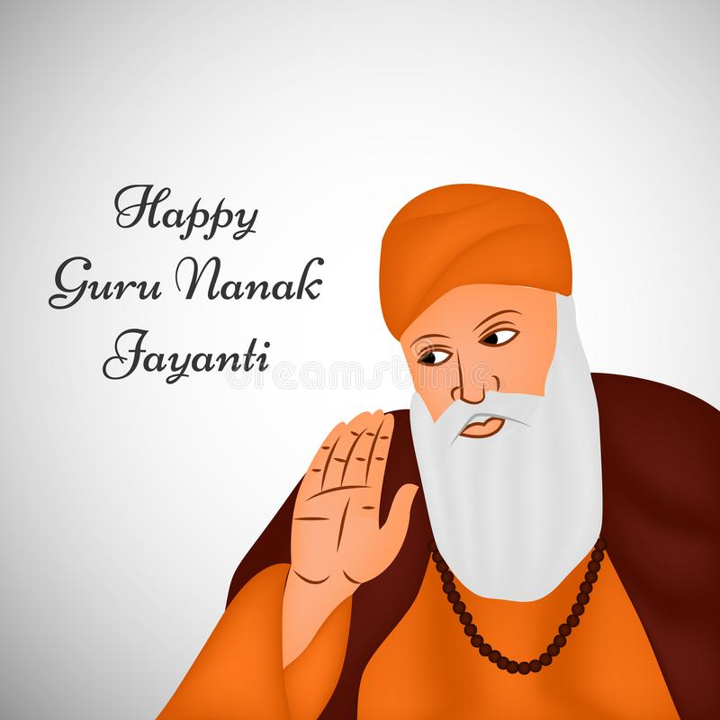 Ejemplo del festival sikh Guru Nanak Jayanti Background ilustración del vector
