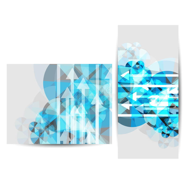 Ejemplo del folleto triple del negocio Vector ilustración del vector