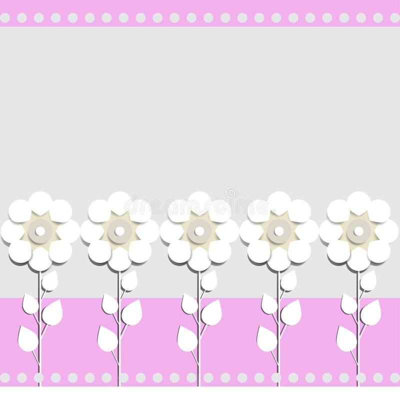 Ejemplo del fondo celebrador de las flores de papel para la colocación del texto libre illustration