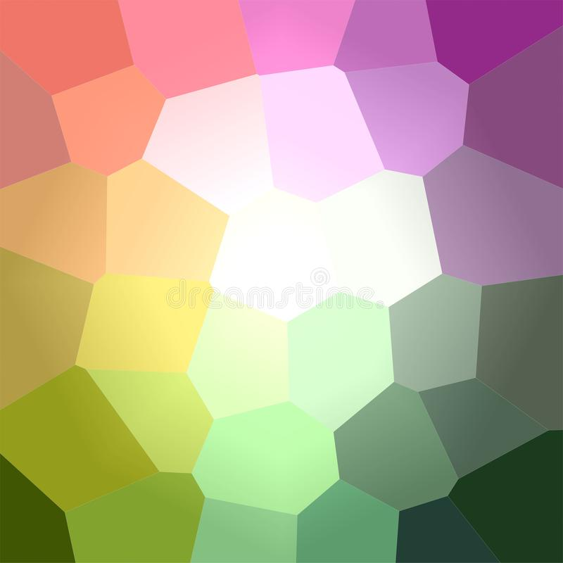 Ejemplo del fondo cuadrado del hexágono gigante verde y púrpura ilustración del vector