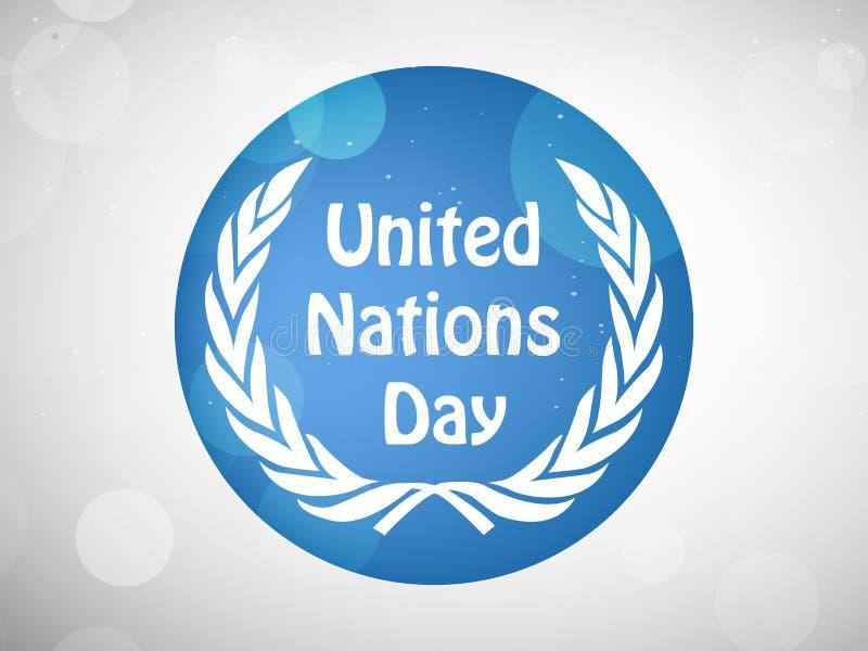 Ejemplo del fondo del día de Naciones Unidas stock de ilustración