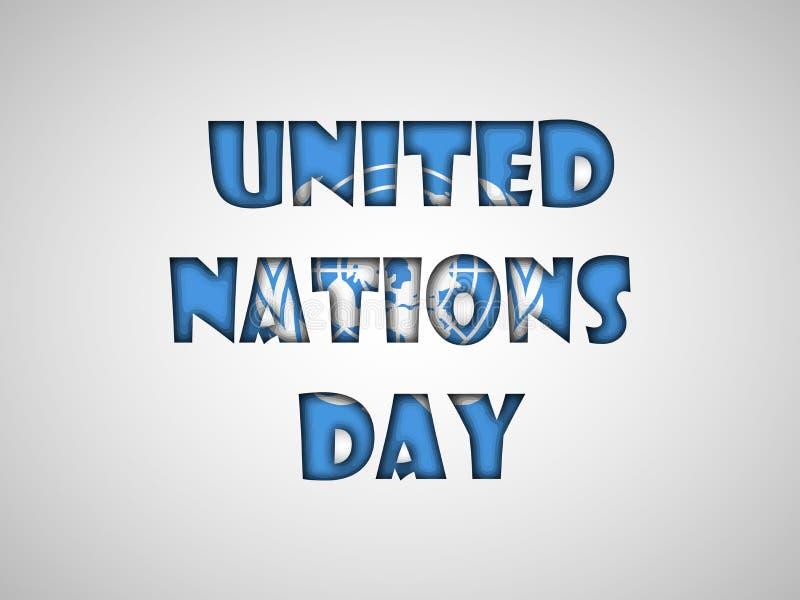 Ejemplo del fondo del día de Naciones Unidas ilustración del vector
