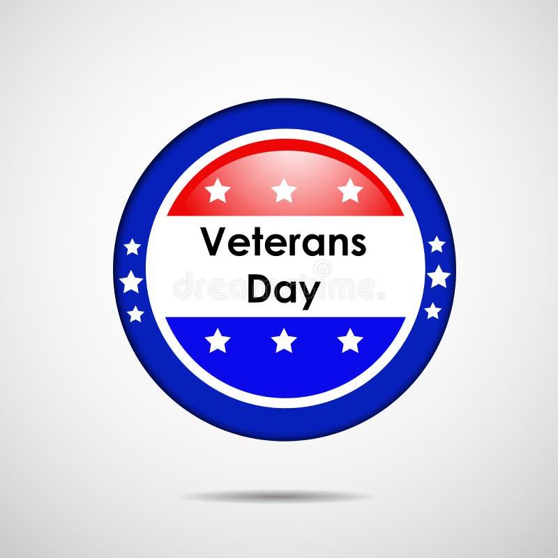 Ejemplo del fondo del día de veteranos ilustración del vector