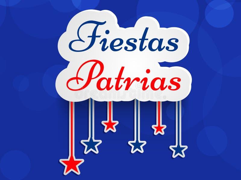 Ejemplo del fondo de Patrias de las fiestas Celebración nacional del Día de la Independencia del ` s de Chile stock de ilustración