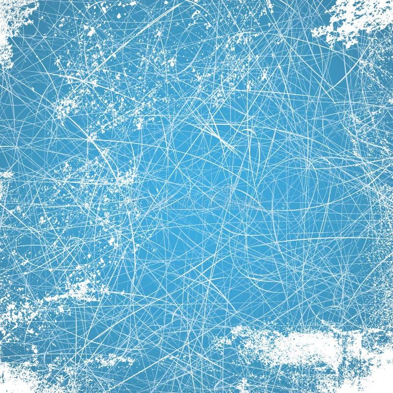 Ejemplo del fondo del hielo con las líneas ilustración del vector