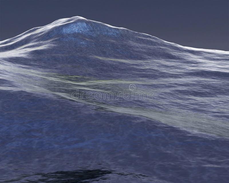 Ejemplo del fondo del mar agitado, océano ilustración del vector