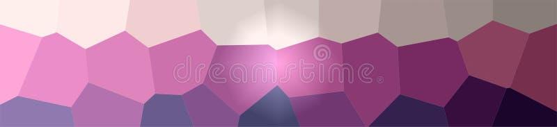 Ejemplo del fondo gigante amarillo y púrpura del hexágono, bandera abstracta stock de ilustración