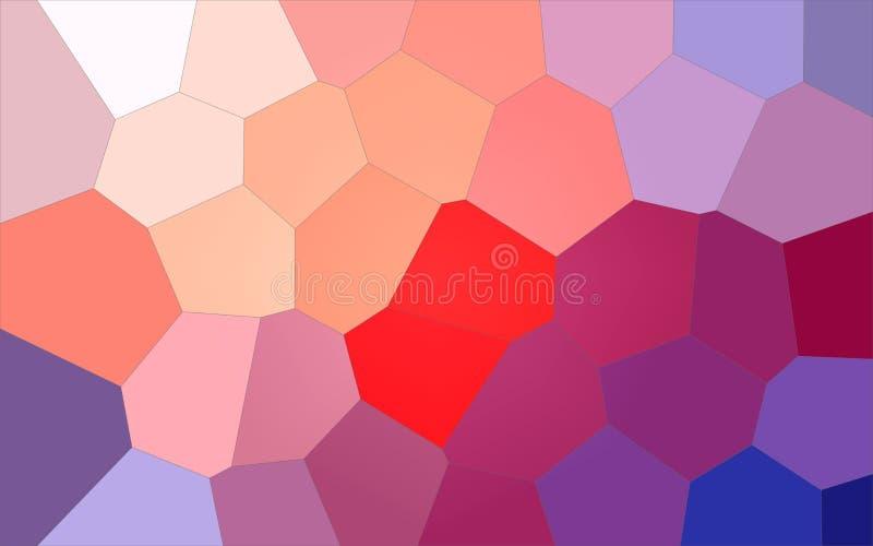 Ejemplo del fondo gigante colorido azul, púrpura, rojo y amarillo del hexágono libre illustration