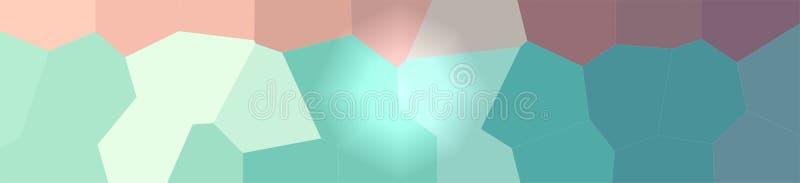 Ejemplo del fondo gigante verde y marrón del hexágono, bandera abstracta libre illustration