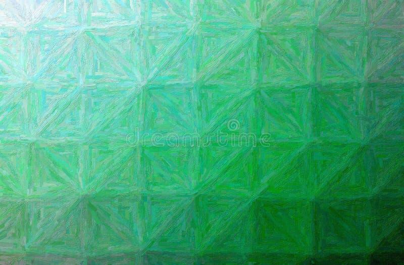 Ejemplo del fondo horizontal del impasto colorido verde ilustración del vector