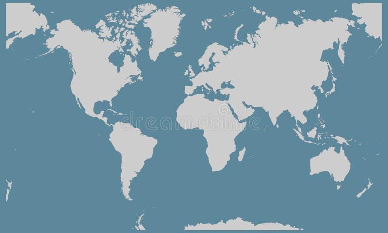 Ejemplo del fondo del mapa del mundo ilustración del vector