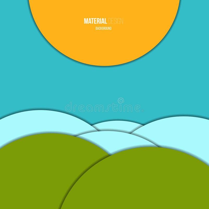 Ejemplo del fondo material moderno inusual del vector del diseño ilustración del vector