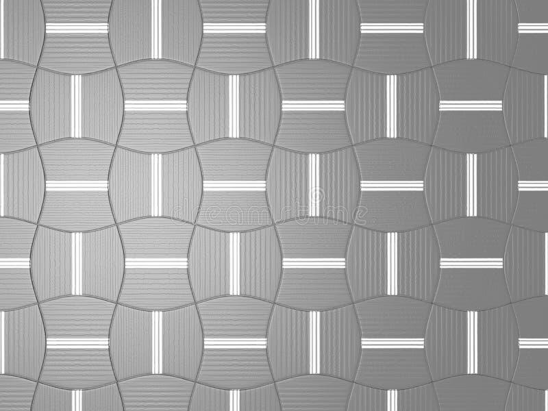 Ejemplo del fondo o del papel gris abstracto de la Navidad con el proyector de centro brillante ilustración del vector