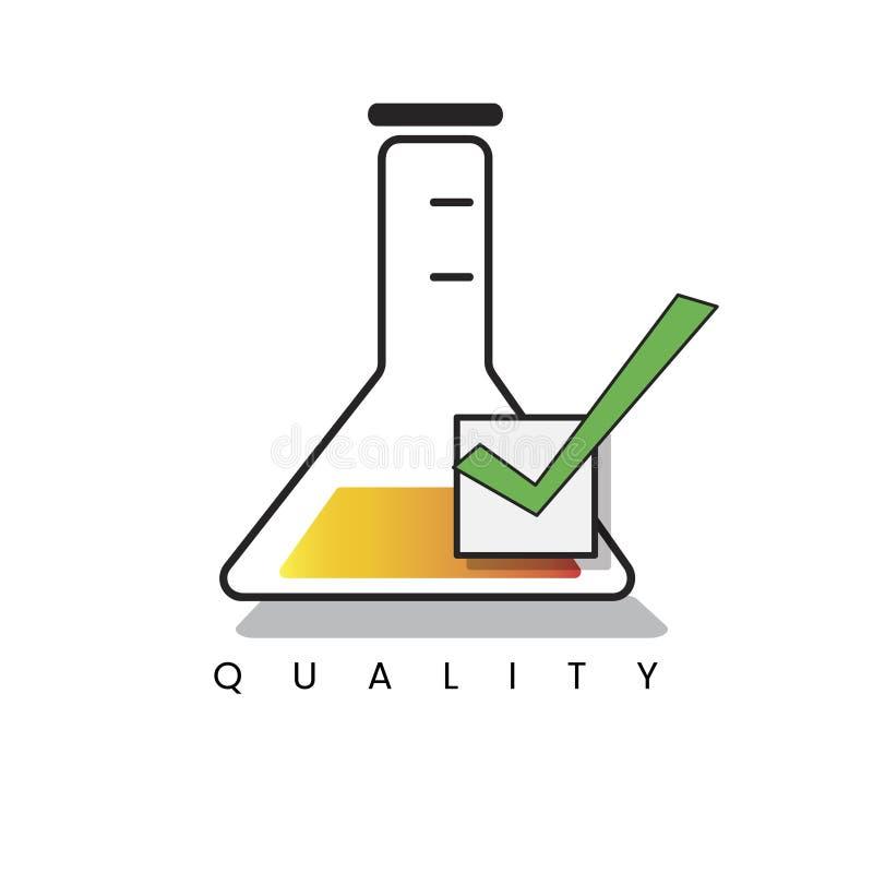 Ejemplo del frasco del laboratorio de química libre illustration