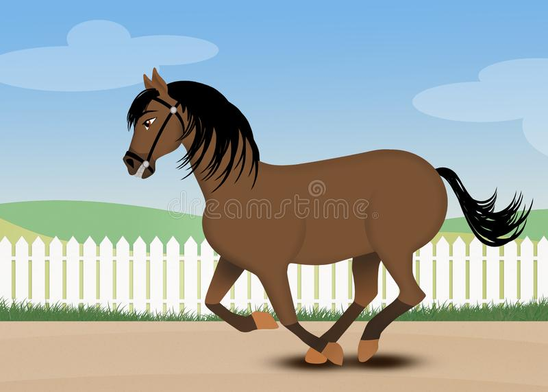 Ejemplo del galope del caballo ilustración del vector