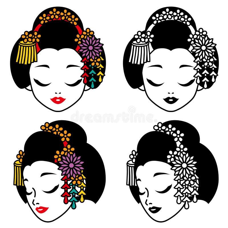 Ejemplo del geisha Geisha japonés libre illustration
