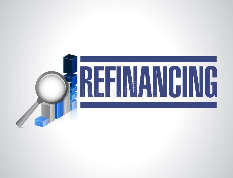 ejemplo del gráfico de negocio de la refinanciación imagen de archivo