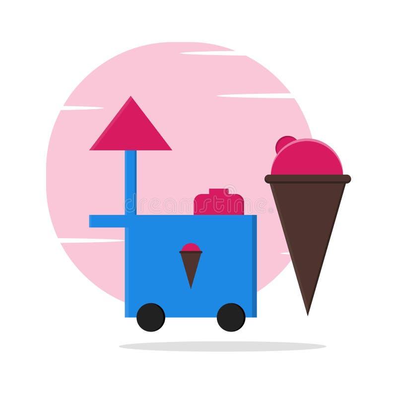 Ejemplo del helado de la comida y de la calle libre illustration
