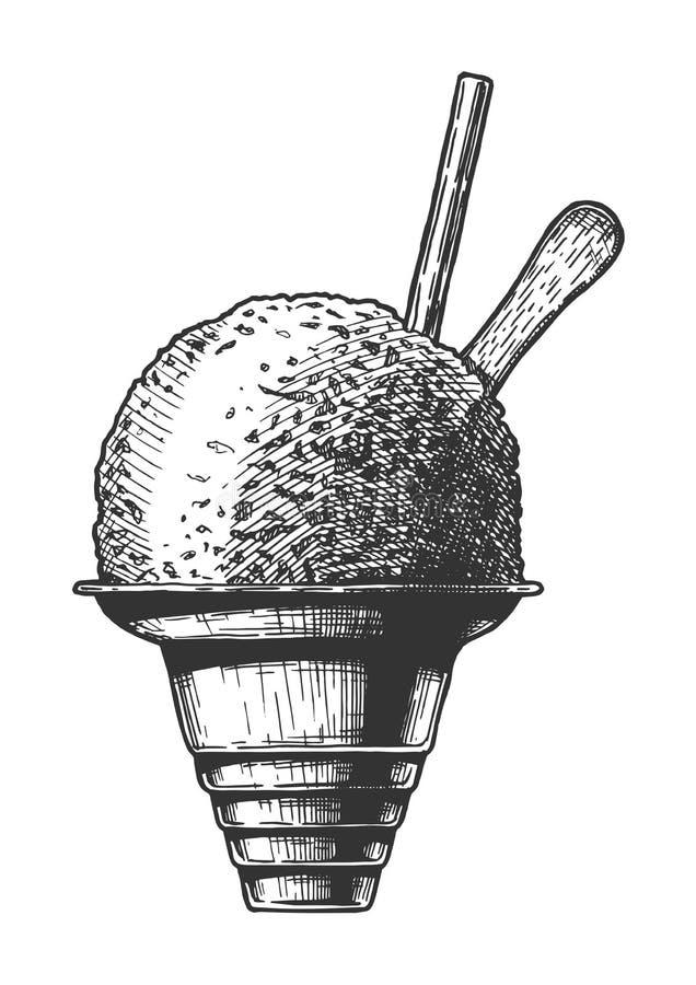 Ejemplo del hielo del afeitado ilustración del vector