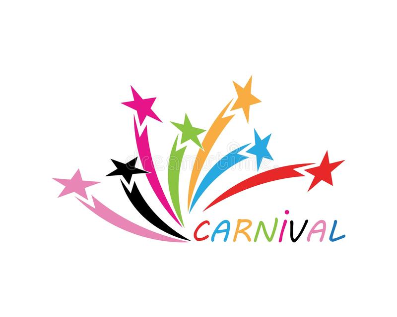 Ejemplo del icono del circo del partido del carnaval y del vector del símbolo ilustración del vector