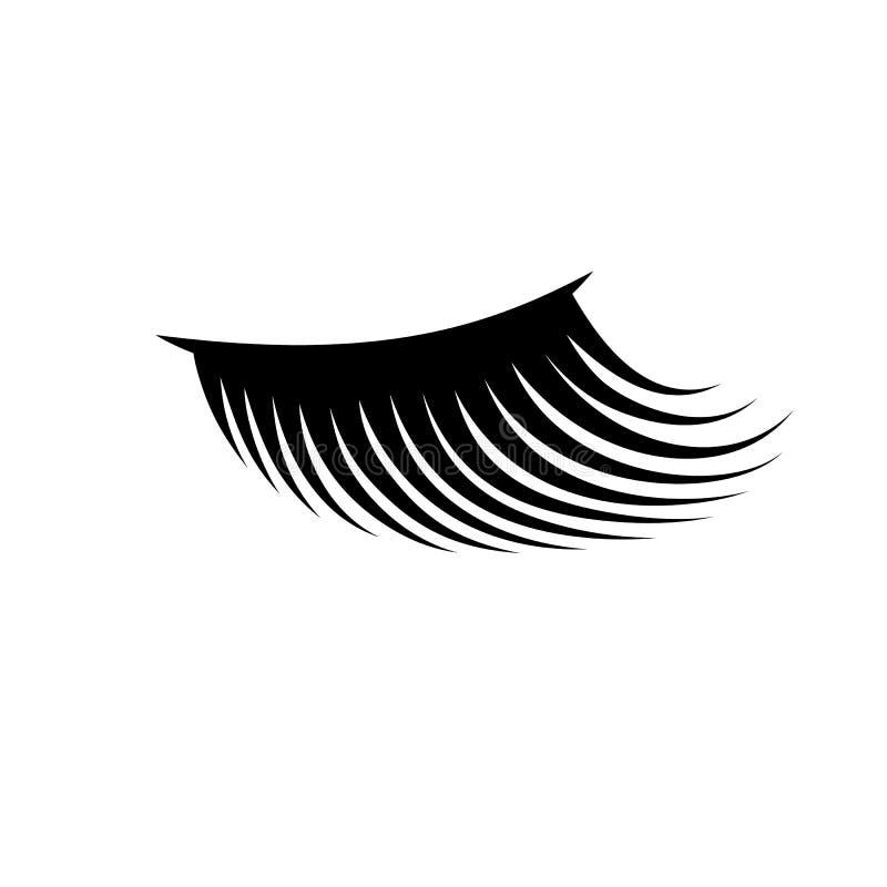 Ejemplo del icono de la pestaña de la mujer Concepto de las extensiones del latigazo libre illustration
