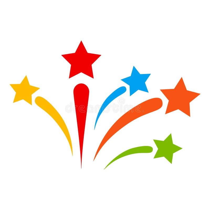 Ejemplo del icono de los fuegos artificiales de la trama stock de ilustración