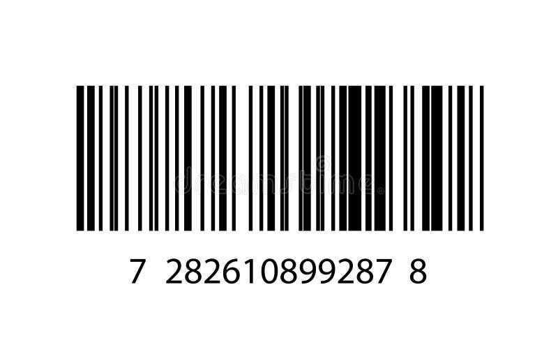 Ejemplo del icono del código de barras ilustración del vector