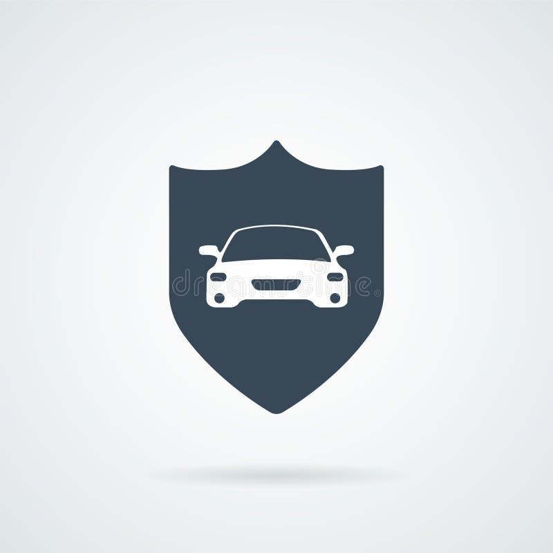 Ejemplo del icono del seguro de coche stock de ilustración