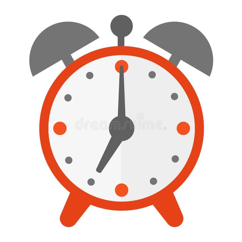 Ejemplo del icono del vector de la alarma del reloj de reloj ilustración del vector