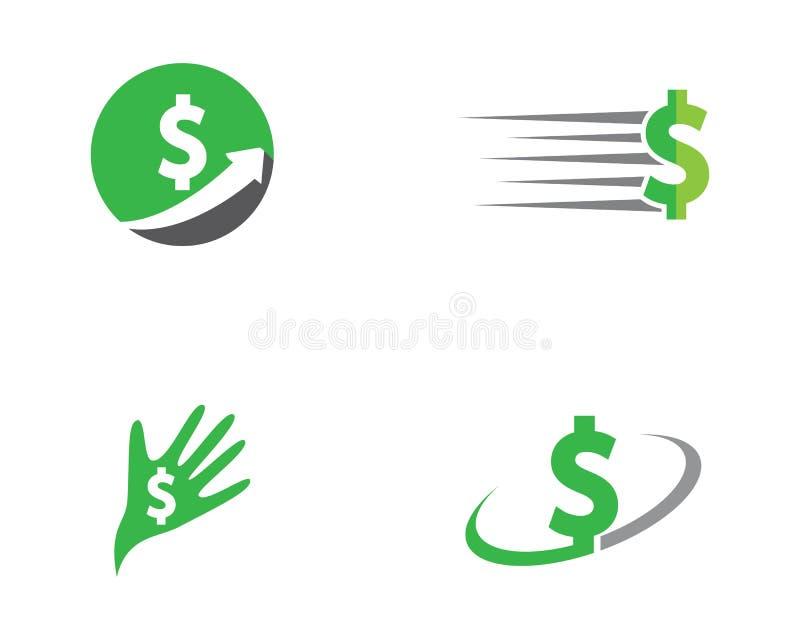 Ejemplo del icono del dinero del d?lar libre illustration