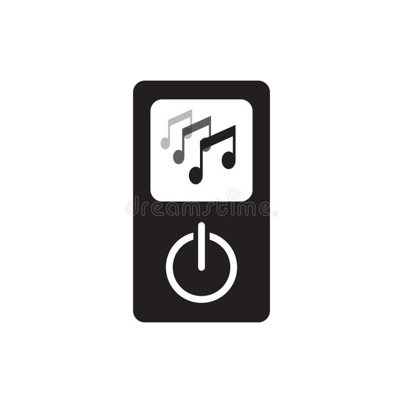 Ejemplo del icono del jugador de música aislado en el fondo blanco ilustración del vector