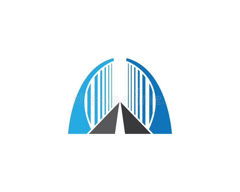 Ejemplo del icono del logotipo del puente ilustración del vector