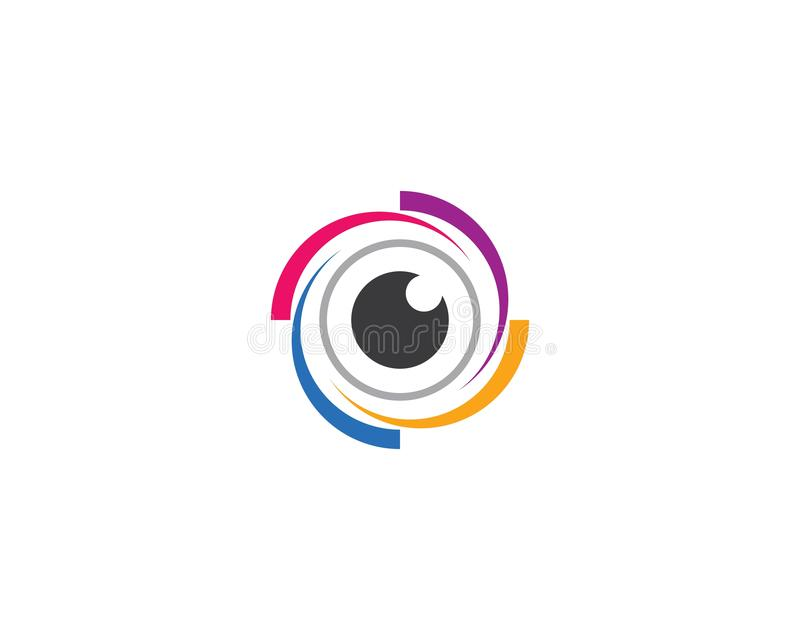 Ejemplo del icono del ojo ilustración del vector