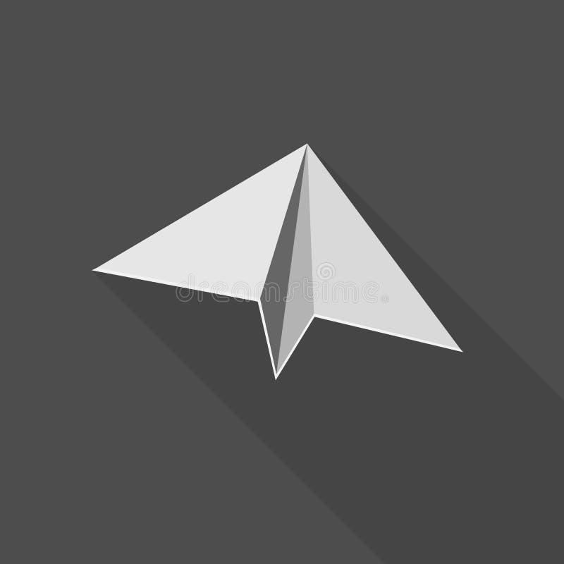 Ejemplo del icono del planeador libre illustration