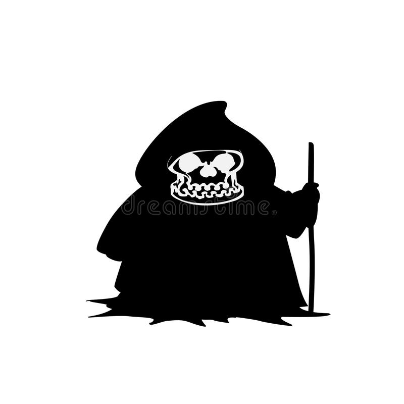 Ejemplo del icono del vector de Halloween del parca aislado en blanco ilustración del vector