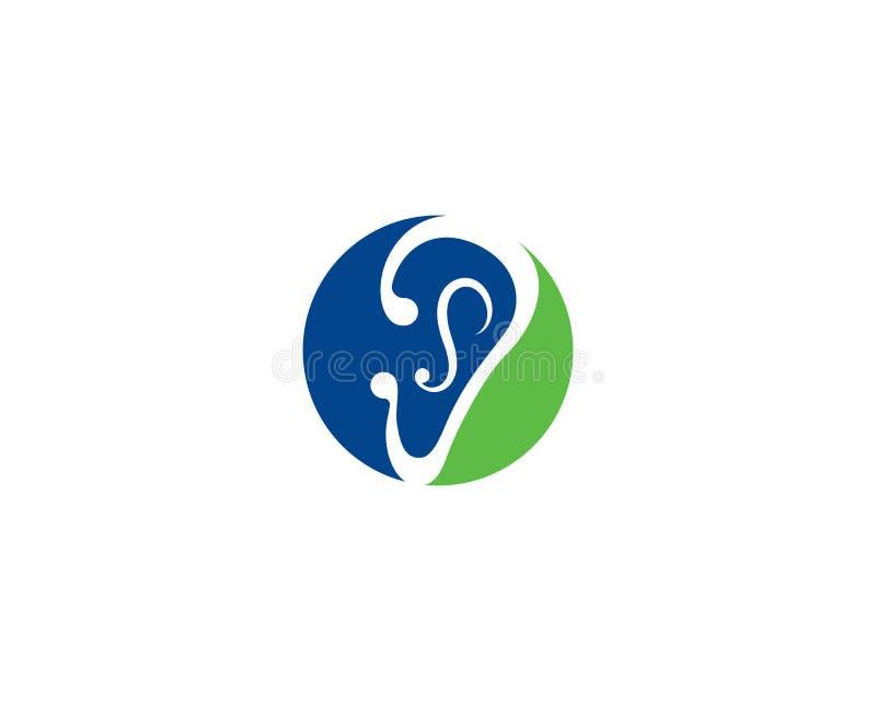 Ejemplo del icono del vector de la plantilla del logotipo de la audición ilustración del vector