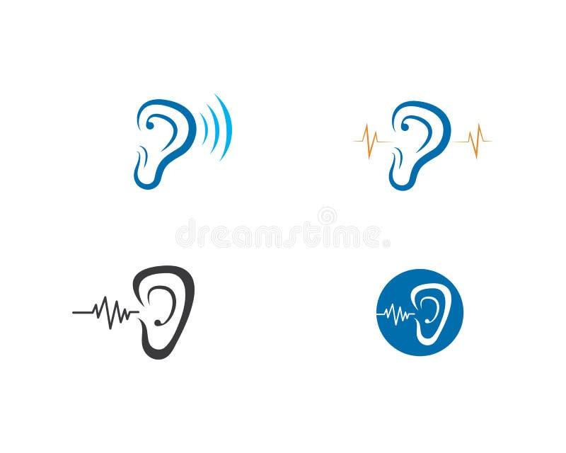 Ejemplo del icono del vector de la plantilla del logotipo de la audici?n libre illustration